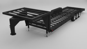 gooseneck trailers 30 ft 3D model