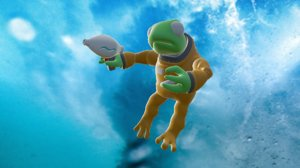 frog astronaut 3D