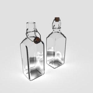 pbr glass bottle 3D model