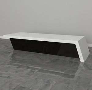 3D counter marble white