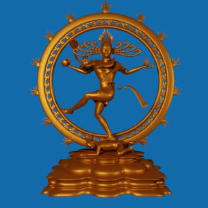 shiva nataraja statue 3d model