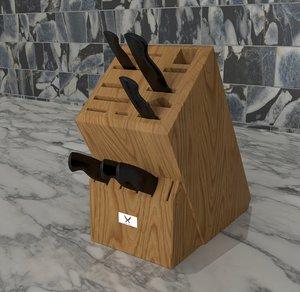 knife wood holder model
