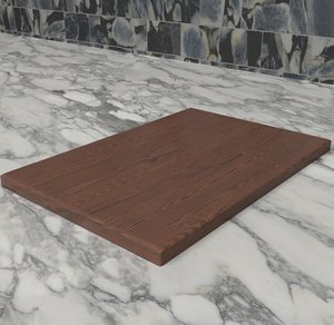 board cutting 3D model
