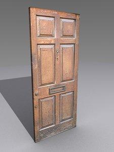 3D external wooden door model