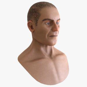 male head model