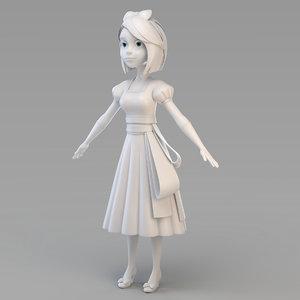 3D snow princess