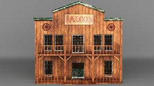 3D western saloon