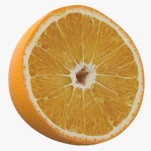 orange half cut model