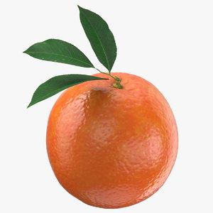 red orange leaf 3D