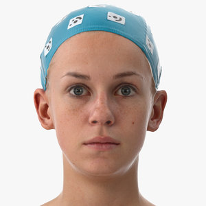 rhea human head upper 3D