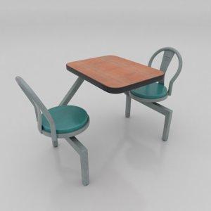 3D table diner model