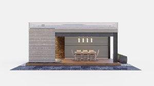 3D gazebo kitchen model