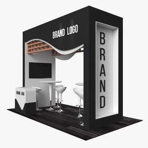 3D model stand advertising