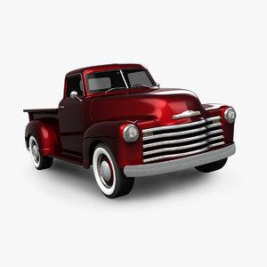 3D chevrolet truck model