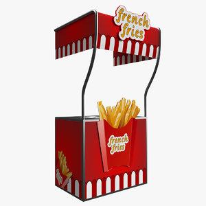 3D fries kiosk