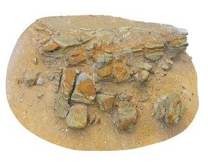 iceland geyser rock cliff 3D model