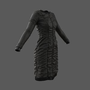 puffed dress marvelous designer 3D