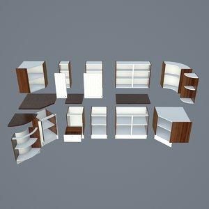 3D cabinet kit kitchen scene model