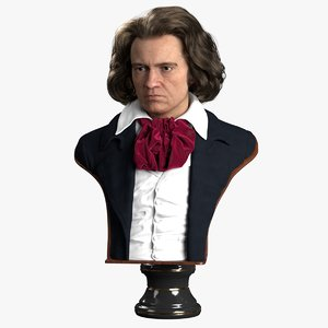 3D decorative bust beethoven model