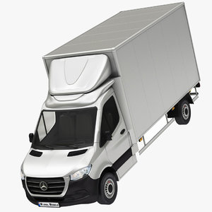3D mercedes sprinter box truck