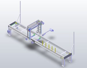 parallel guided package saw 3D model