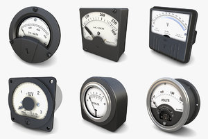 3D analog voltmeters vol 3 model