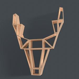 3D oak wood model