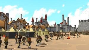 medieval assets build castle 3D model