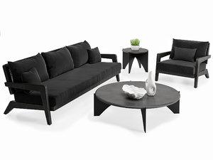 3D outdoor furniture