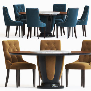dining set 81 table 3D model