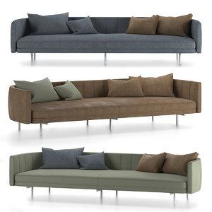 3D sofa leather cloth model