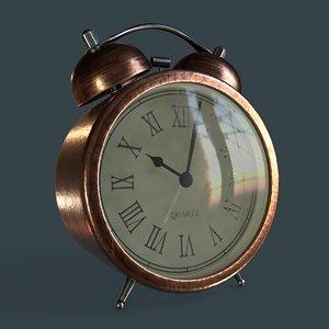 3D vintage alarm model