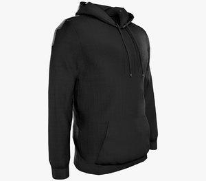 black hoodie 3D model