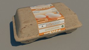 3D egg carton package model
