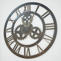 Brass And Iron Wall Clock