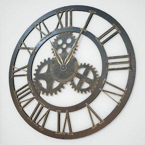 iron wall clock model