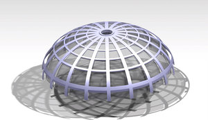 dome architectural metal 3D model