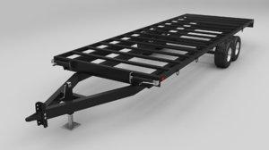 3D deckover trailer 24 ft