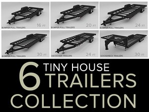 tiny house trailers 3D model