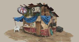 slum shop 3D model