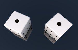 3D dice gambling snake