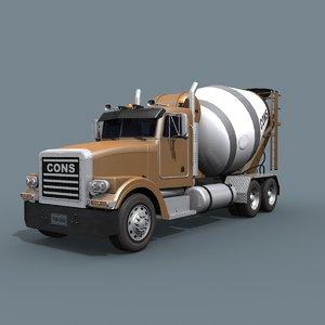 3D fine cement truck -