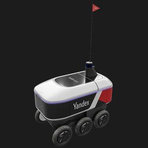 3D yandex rover robot model
