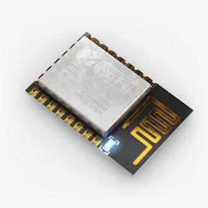 3D esp12 microcontroller electronics model