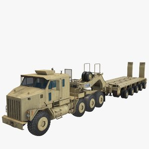 oshkosh m1070 truck m1000 3D model