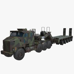 3D model oshkosh m1070 truck m1000