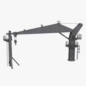 3D deck ship crane model