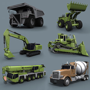3D mighty mining pack - model