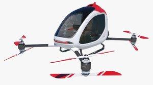 3D model electric passenger drone single