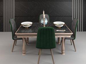 dining furniture set 3D
